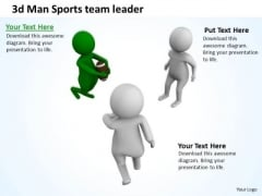 Business People 3d Men Sports Team Leader PowerPoint Slides