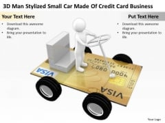 Business People Car Made Of Credit Card New PowerPoint Presentation Templates