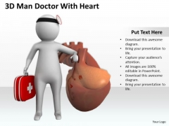Business People Clip Art 3d Man Doctor With Heart PowerPoint Slides