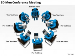 Business People Clip Art 3d Men Conference Meeting PowerPoint Templates Ppt Backgrounds For Slides