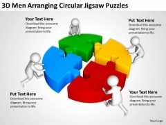 Business People Clip Art Circular Jigsaw Puzzles PowerPoint Templates Ppt Backgrounds For Slides