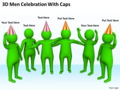 Business People Clip Art Men Celebration With Caps PowerPoint Templates Ppt Backgrounds For Slides