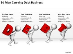 Business People Clipart 3d Man Carrying Debt PowerPoint Theme Templates