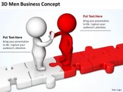 Business People Clipart 3d Men New PowerPoint Presentation Concept Templates