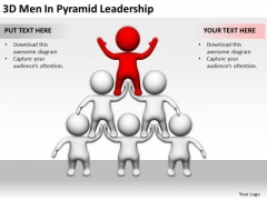 Business People Clipart 3d Men Pyramid Leadership PowerPoint Templates