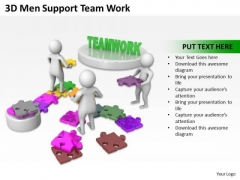 Business People Clipart 3d Men Support Team Work PowerPoint Templates