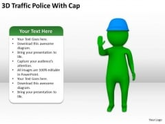 Business People Clipart 3d Traffic Police With Cap PowerPoint Slides