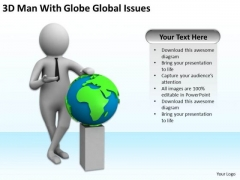 Business People Clipart With Globe Global Issues PowerPoint Templates Ppt Backgrounds For Slides