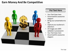 Business People Earn Money And Be Competitive PowerPoint Templates Ppt Backgrounds For Slides