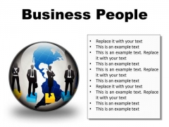 Business People Global PowerPoint Presentation Slides C