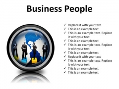 Business People Global PowerPoint Presentation Slides Cc