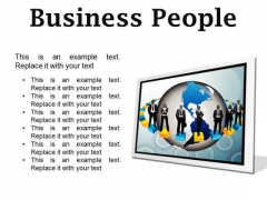 Business People Global PowerPoint Presentation Slides F