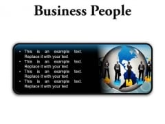Business People Global PowerPoint Presentation Slides R