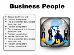 Business People Global PowerPoint Presentation Slides S