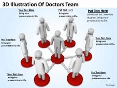 Business People Images 3d Illustration Of Doctors Team PowerPoint Slides