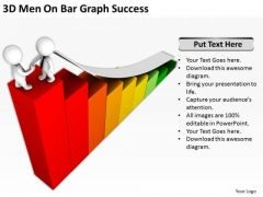 Business People Images 3d Men On Bar Graph Success PowerPoint Templates Ppt Backgrounds For Slides