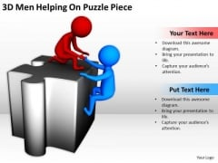 Business People Images Men Helping On Puzzle Piece PowerPoint Templates Ppt Backgrounds For Slides