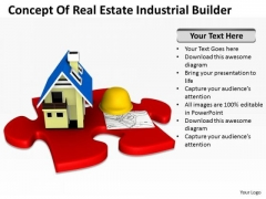 Business People Of Real Estate Industrial Builder PowerPoint Templates Ppt Backgrounds For Slides