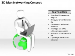 Business People Pictures 3d Man Networking Concept PowerPoint Templates