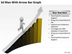 Business People Pictures Man With Arrow Bar Graph PowerPoint Templates Ppt Backgrounds For Slides