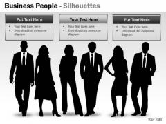 Business People Silhouettes PowerPoint Slides And Ppt Diagram Templates