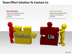 Business People Team Effort Solution To Contact PowerPoint Templates Ppt Backgrounds Slides