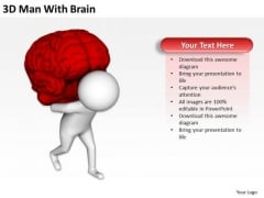 Business People Vector 3d Man With Brain PowerPoint Templates Ppt Backgrounds For Slides