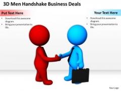 Business People Vector Men Handshake World PowerPoint Templates Deals