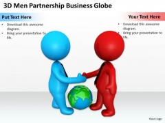 Business People Vector PowerPoint Templates Globe Ppt Backgrounds For Slides