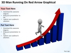 Business People Walking 3d Man Running On Red Arrow Graphical PowerPoint Slides