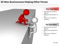 Business People Walking Helping Other Person PowerPoint Templates Ppt Backgrounds For Slides