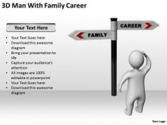 Business Persons 3d Man With Family Career PowerPoint Templates Ppt Backgrounds For Slides