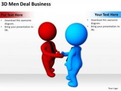 Business Persons 3d Men Deal PowerPoint Theme Slides