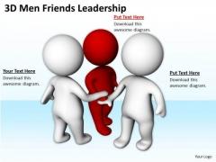 Business Persons 3d Men Friends Leadership PowerPoint Templates