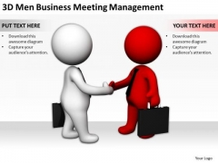 Business Persons 3d Men PowerPoint Presentations Meeting Management Templates