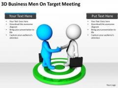 Business Persons 3d Men Target Meeting PowerPoint Templates