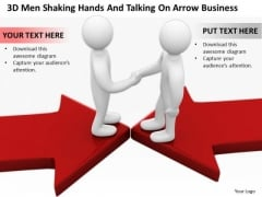 Business Persons And Talking Arrow PowerPoint Templates Download