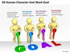 Business Persons Human Character And Word Goal Success PowerPoint Templates