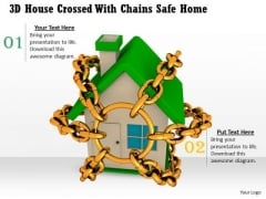 Business Plan And Strategy 3d House Crossed With Chains Safe Home Success Images
