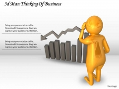 Business Plan And Strategy 3d Man Thinking Of Concept Statement