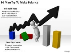 Business Plan And Strategy 3d Man Try To Make Balance Adaptable Concepts