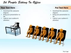 Business Plan And Strategy 3d People Sitting Office Character