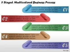 Business Plan And Strategy 5 Staged Multicolored Process Strategic Planning