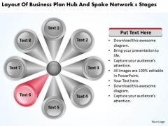 Business Plan Hub And Spoke Network 8 Stages Sample Plans PowerPoint Templates