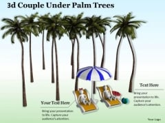 Business Plan Strategy 3d Couple Under Palm Trees Concept Statement