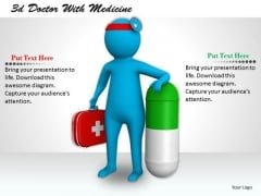 Business Plan Strategy 3d Doctor With Medicine Concept Statement