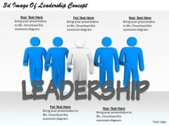 Business Plan Strategy 3d Image Of Leadership Concept Character Modeling