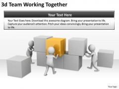 Business Plan Strategy 3d Team Working Together Concept Statement