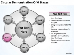 Business Plan Strategy Circular Demonstration Of 6 Stages Ppt Basic Marketing Concepts