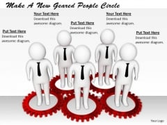 Business Plan Strategy Make New Geared People Circle Concept